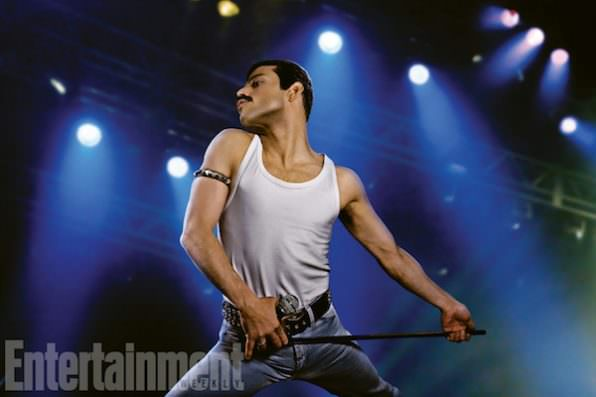 New Video Shows Rami Malek Playing Freddie Mercury In Live Aid Reenactment