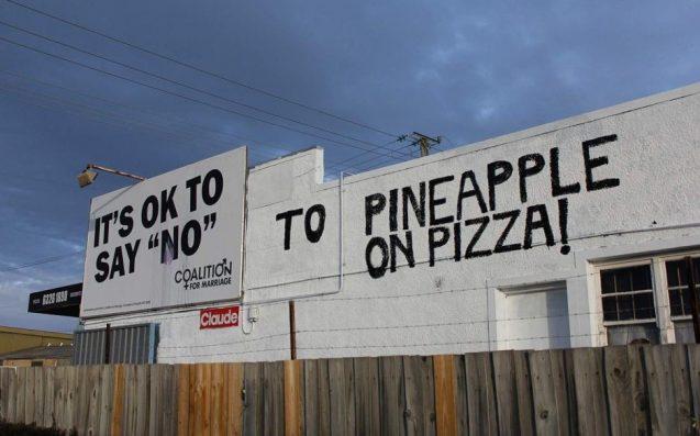 Tassie Pizza Shop Goes Ham On Anti-SSM Billboard Erected On Their Building
