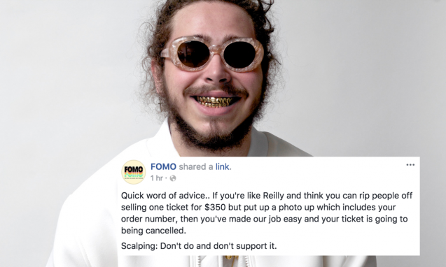 FOMO Festival Just Rinsed This Attempted QLD Scalper To Death & Back
