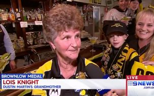 Dustin Martin's Super Cute Nan Got Her First Tattoo To Honour Her Grandson