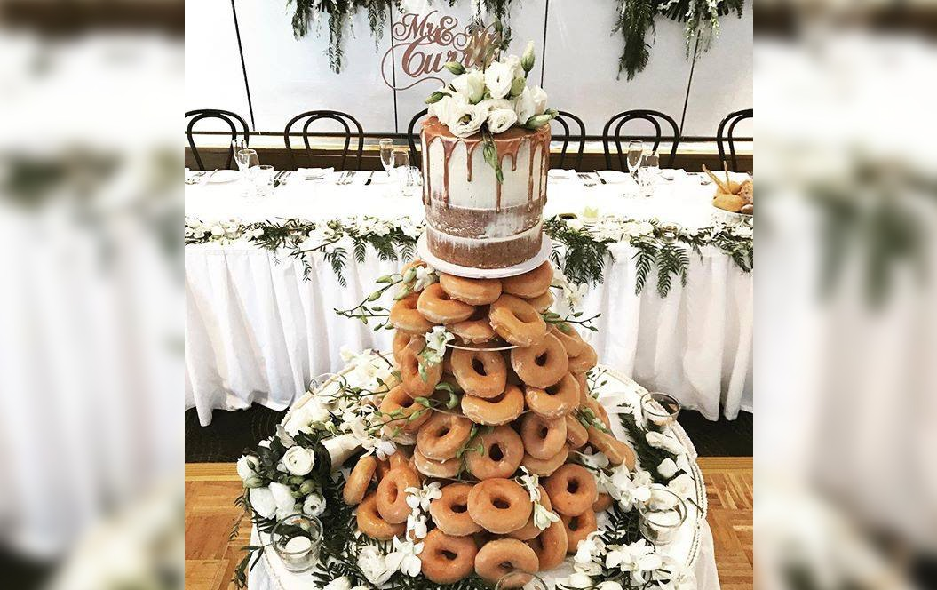 A Literal Pile Of Doughnuts Is The Wedding Cake You Never Knew You Needed