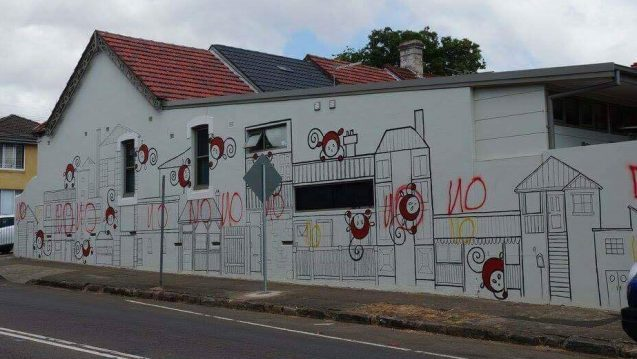 Some Super Gronks Sprayed 'No' All Throughout Sydney's Enmore Overnight