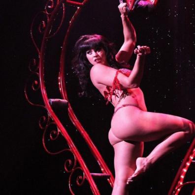 Ginger Valentine performing Dita Von Teese's  'My Heart Belongs To Daddy' routine.