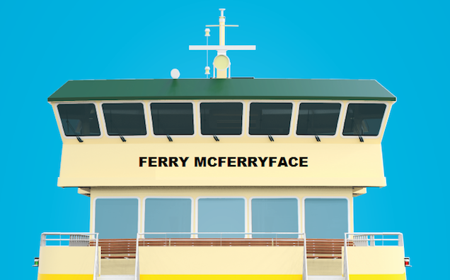Ferry Staff Refuse To Crew Ferry McFerryface Until It Gets A Less Shit Name
