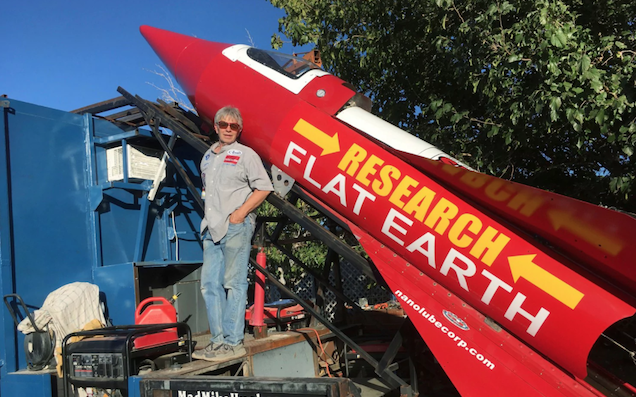 This man hopes his homemade rocket will prove the Earth is flat
