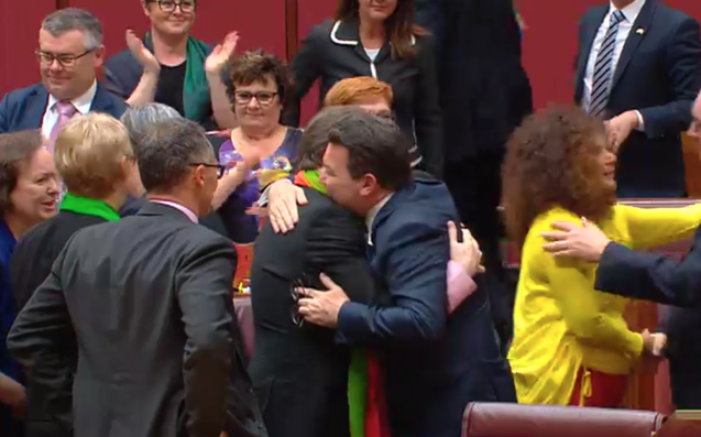 Same sex marriage bill passes the Senate