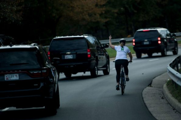 Thousands of dollars raised for woman who flipped off Trump's motorcade