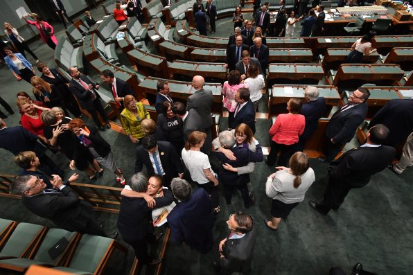 WATCH: Parliament Sang 'I Am Australian' After Marriage Equality Bill Passed