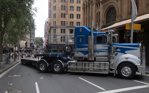 Actual Semi-Trailers Blocked Traffic To Control Sydney ...