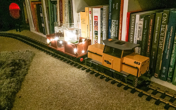 Some Genius Turned A Railway Set Into A Gin Delivery Service For Christmas