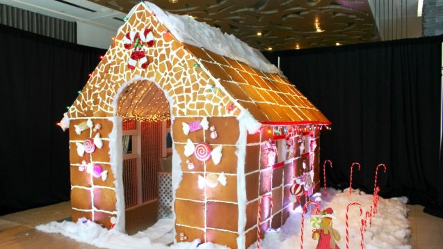 Hansel And Gret-The-Hell To This Life-Sized Gingerbread House In Austin