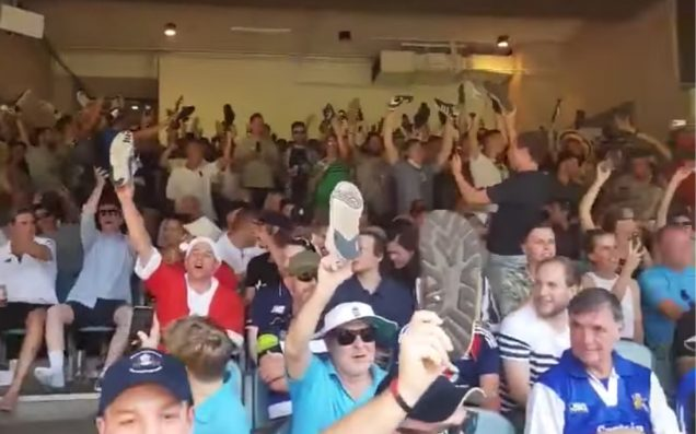 A Throng Of Rowdy Barmy Army Punters Literally Gave MCG Seccies The Boot