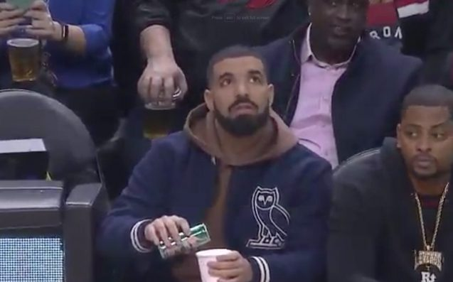 Drake Tried His Hand As A Toronto Raptors Sideline Reporter