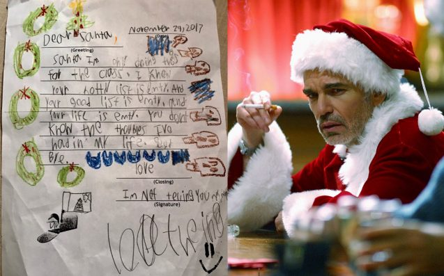 Child skeptic writes savage letter to Santa