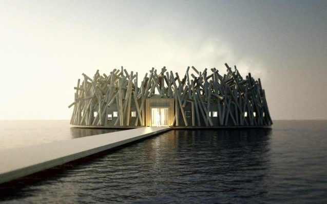 A Futuristic, Floating 'Arctic Bath' Wellness Hotel Is Opening In Sweden