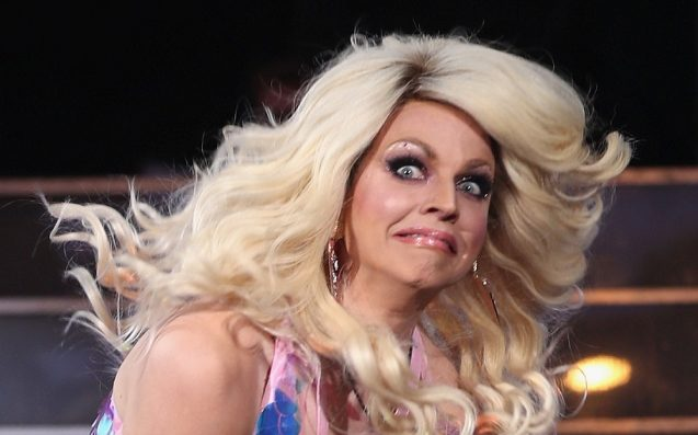 courtney act had an epic wardrobe malfunction, owned it like a champ