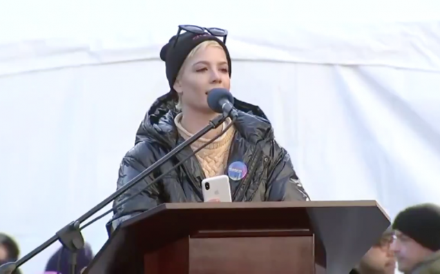 Halsey Shares Powerful Poem at Women's March 2018 in NYC