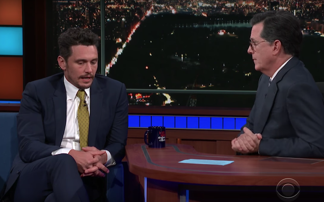 James Franco Denies All Allegations After Being Confronted By Colbert