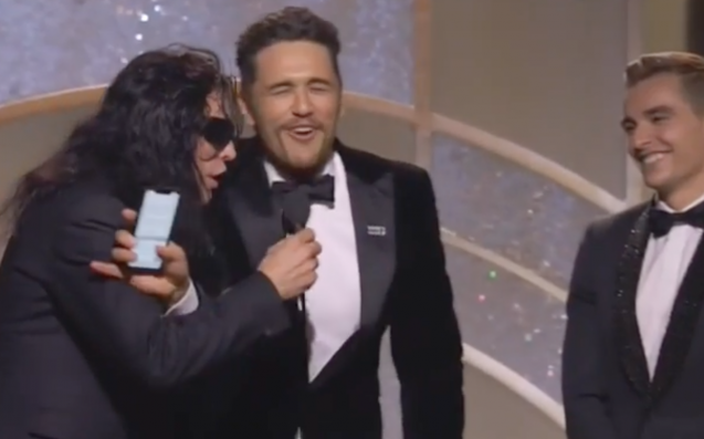 Tommy Wiseau Tried To Hijack James Franco's Golden Globes Acceptance Speech