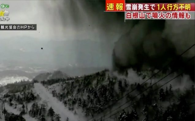 Volcano erupts in Japan, triggers avalanche