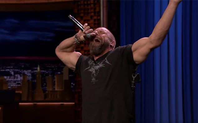 Triple H Rocks Out to 'Moana' Song During Lip Sync Battle