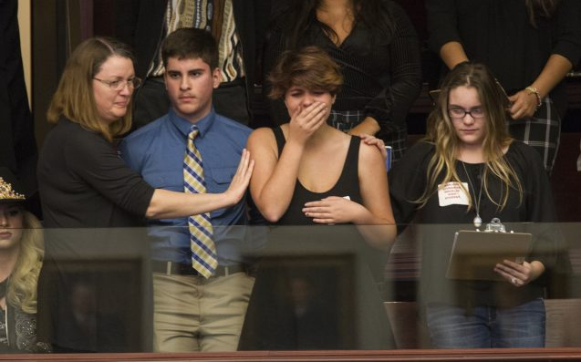 School shooting survivors make gun control push at Florida Capitol