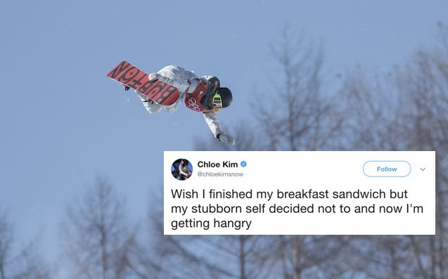 17 Y.O. Breaks Olympic Snowboarding Record While Tweeting About Being Hangry