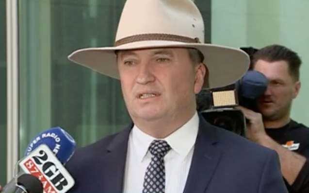 "Barnaby Joyce Called A Presser Purely To Sook About ""Inept"" Malcolm Turnbull"