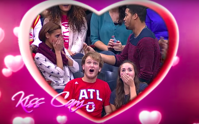 Cop An Eyeful Of The Best (Or Blurst) Kiss Cam Footage