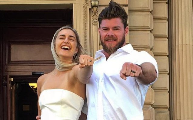 Frances Abbott & Rowing Beau Sam Loch Tied The Knot In A Big V-Day Surprise