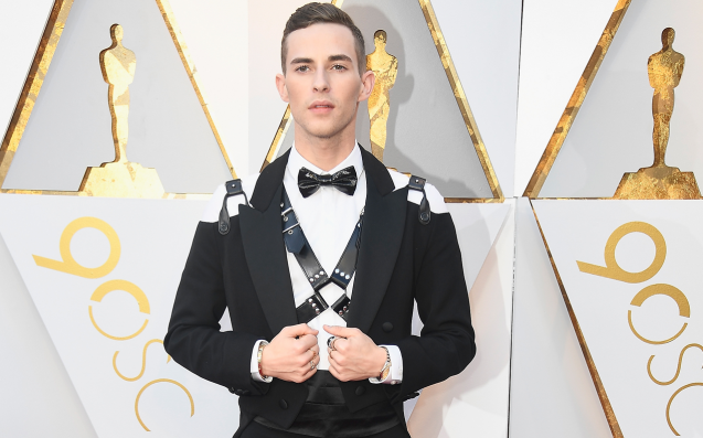 Adam Rippon just hit the Oscars red carpet wearing a leather harness