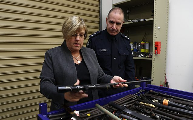 Rocket launcher handed in during gun amnesty