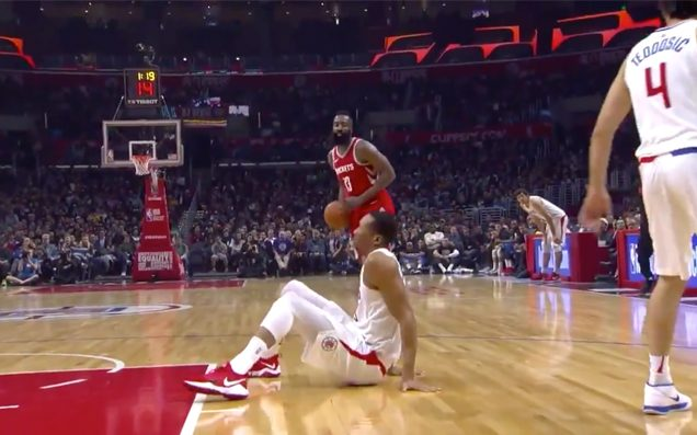 Watch James Harden Stare Through A Man's Soul After Murdering His Ankles