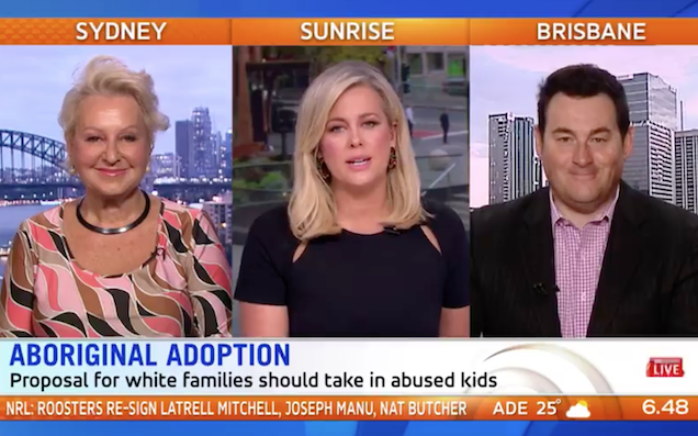 'Sunrise' Host Backs Yesterday's Appalling Push For Another Stolen Generation