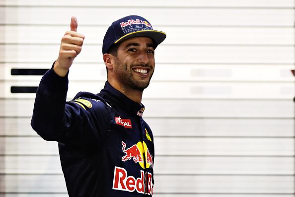 Daniel Ricciardo Celebrates China Grand Prix Win With A Classic Shoey