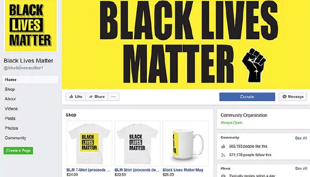Biggest Black Lives Matter Facebook page is fake