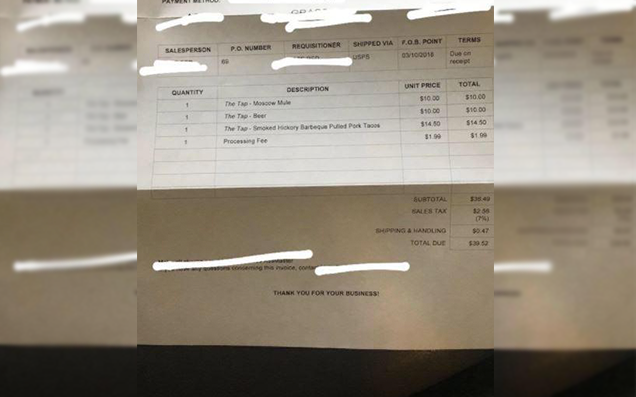 Salty Bloke Sends Woman A Bill For First & Only Date After She Ghosted Him