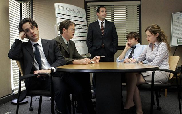 Dwight Office Late For Work