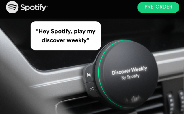 Is Spotify About To Announce A Music Player For Your Car Dashboard?