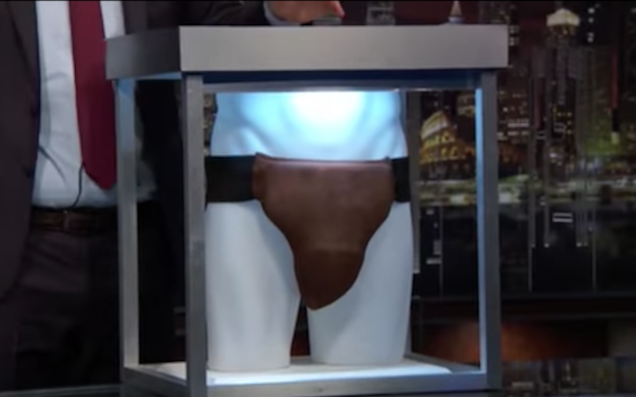 John Oliver Bought Russell Crowe's $7000 Used Jockstrap As A Gift For Blockbuster