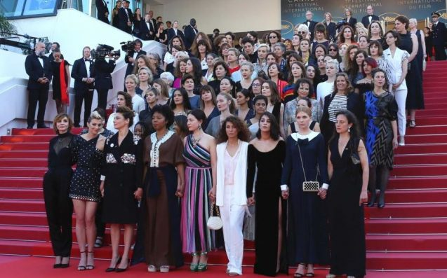 82 women walk Cannes red carpet in protest