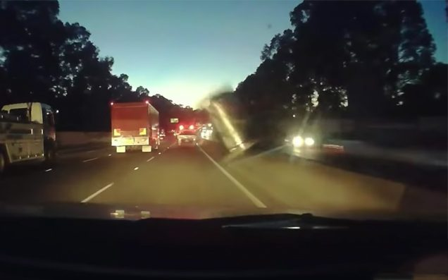 Watch The Wild Moment A Flying Beer Keg Slams Into A Car On A Sydney Motorway