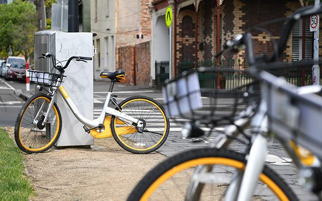 VIC Police Are Hunting A Bloke Who Chucked An oBike At A Train